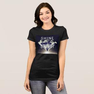 T-shirt Chemise brillante LUMINEUSE de diamant d'ÉCLAT