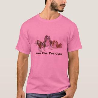 T-shirt Chemise cavalière de cancer du sein d'épagneul du
