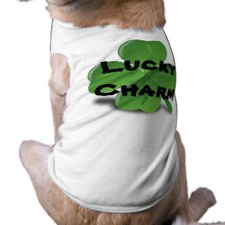 T-shirt Chemise chanceuse de charme d'animal familier