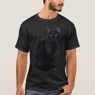 T-shirt Chemise chanceuse de chat noir