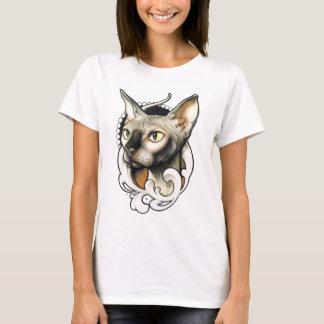 T-shirt Chemise chauve égyptienne de chat