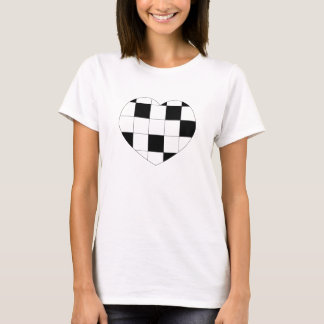 T-shirt Chemise Checkered de coeur