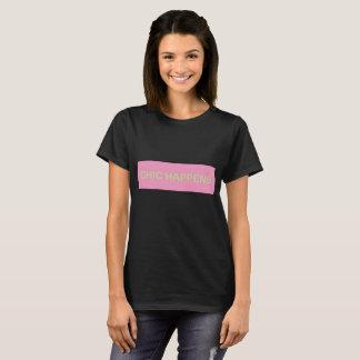 T-shirt chemise chic noire de base