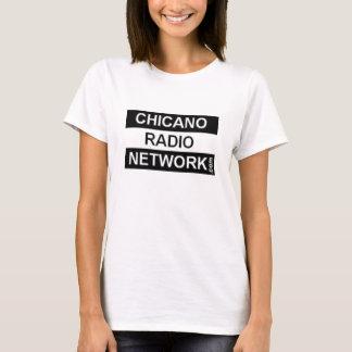 T-shirt Chemise chicano de réseau de radio pour les dames