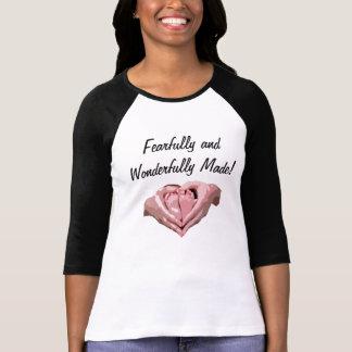 """T-shirt chemise chrétienne """"craintivement et"""