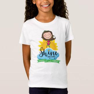 T-Shirt Chemise courageuse et audacieuse de filles