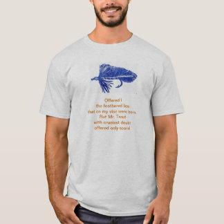 T-shirt Chemise cruelle de poème de truite avec la flamme