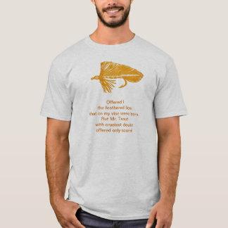T-shirt Chemise cruelle de truite avec la flamme d'or de