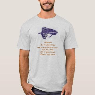 T-shirt Chemise cruelle de truite avec la flamme pourpre
