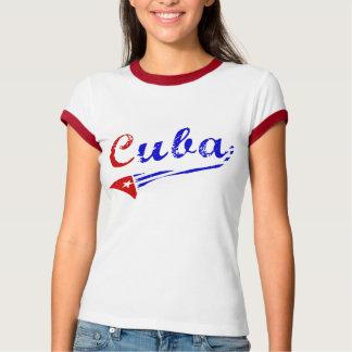 T-shirt Chemise cubaine avec le drapeau cubain