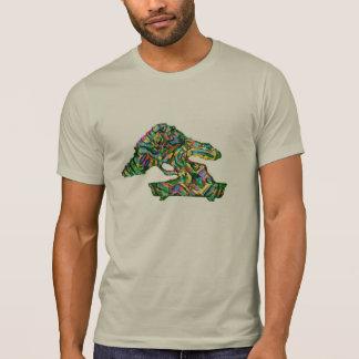 T-shirt Chemise d'abrégé sur silhouette de forme de