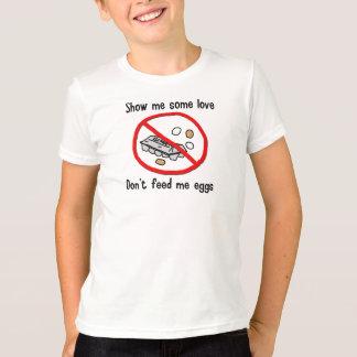 T-shirt Chemise d'allergie d'oeufs