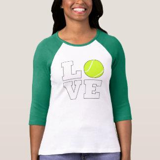 T-shirt Chemise d'amour de tennis pour le joueur et les