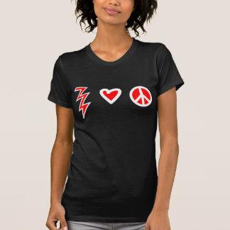T-shirt Chemise d'amour et de paix de foudre