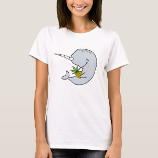 T-shirt Chemise d'ananas de dames Narwhal