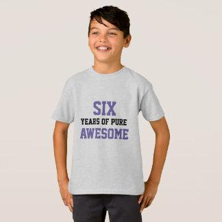 T-shirt chemise d'anniversaire de 6 ans