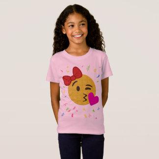 T-Shirt Chemise d'anniversaire d'Emoji - baiser de coeur