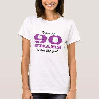 T-shirt Chemise d'anniversaire pour la femme de 90 ans