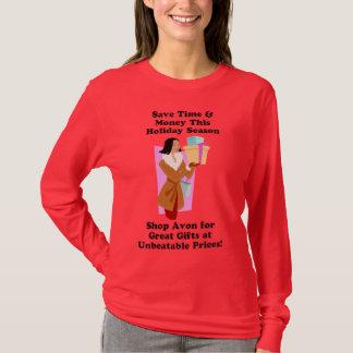 T-shirt Chemise d'Avon de Noël - longue douille