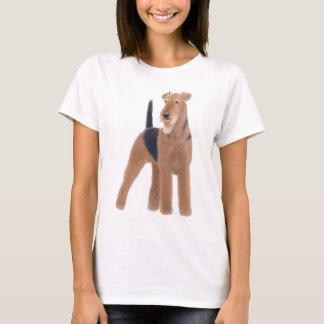 T-shirt Chemise de Babydoll de dames d'Airedale Terrier