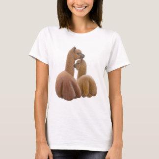 T-shirt Chemise de Babydoll de dames d'amour d'alpaga