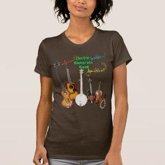T-shirt Chemise de bande de Bluegrass de Brown