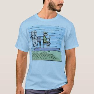 T-shirt Chemise de bande dessinée de bateau d'air