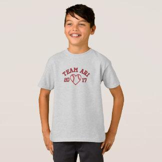 T-shirt Chemise de base-ball de garçons d'Ari d'équipe