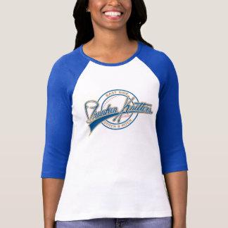 T-shirt Chemise de base-ball de la douille des femmes