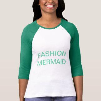 T-shirt Chemise de base-ball de sirène de mode