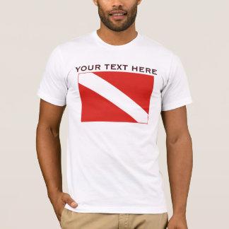 T-shirt Chemise de base de modèle de drapeau de piqué