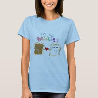T-shirt chemise de besties de duvet de beurre d'arachide