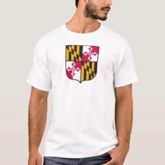 T-shirt Chemise de bouclier de drapeau du Maryland