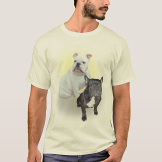 T-shirt Chemise de bouledogues anglais et français