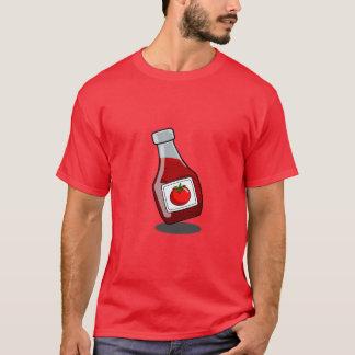 T-shirt Chemise de bouteille de ketchup de bande dessinée