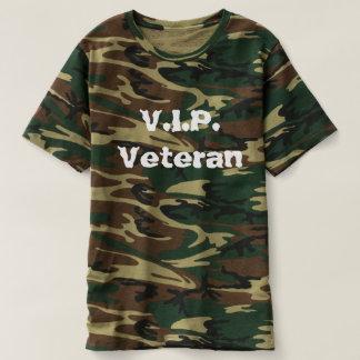 T-shirt Chemise de camo du vétéran V.I.P.