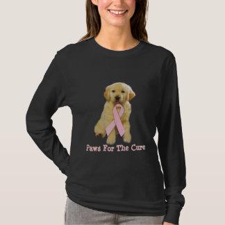 T-shirt Chemise de cancer du sein de golden retriever