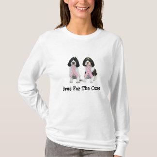 T-shirt Chemise de cancer du sein d'épagneul de springer