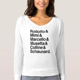 T-shirt Chemise de caractères de Bohème de La