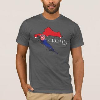 T-shirt Chemise de carte de drapeau de la Croatie