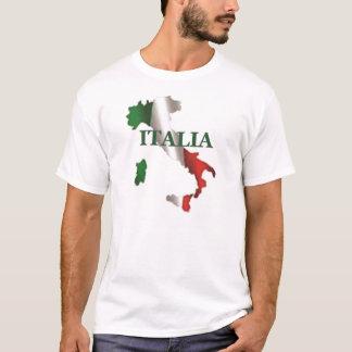T-shirt Chemise de carte de l'Italie des hommes