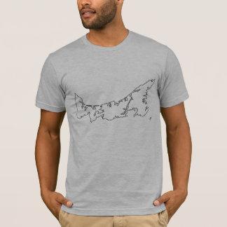 T-shirt Chemise de carte d'île Prince Edouard