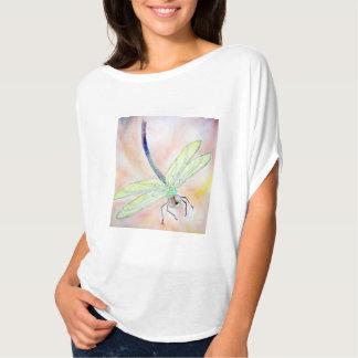 T-shirt Chemise de cercle de Flowy des femmes de libellule