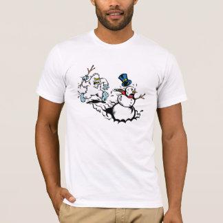 T-shirt Chemise de chasse de bonhomme de neige