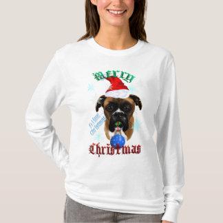T-shirt Chemise de chien de boxeur de Merveilleux-Noël