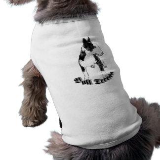 T-shirt Chemise de chien de bull-terrier