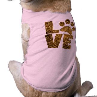 T-shirt Chemise de chien de Pawprint d'amour