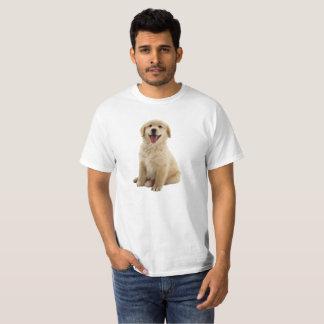 T-shirt Chemise de chiot de golden retriever