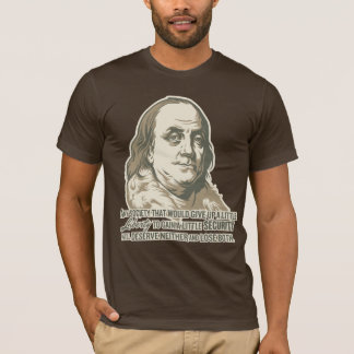 T-shirt Chemise de citation de Ben Franklin