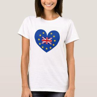 T-shirt Chemise de coeur de brexit de référendum